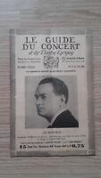 El Guía de La Concierto Y Las Teatro Letra - Gil-Marchex - N º 34-1929