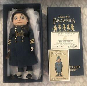 "Palmer Cox Brownies ""Policeman"" Ltd Ed 131/250 R. John Wright COA Box Insert Tag"