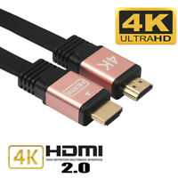 5 meter 4K HDMI CABLE 2.0 HIGH SPEED GOLD PLATED BRAIDED LEAD 2160P 3D HDTV UHD