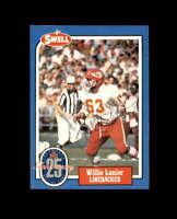 Willie Lanier Hand Signed 1988 Swell Kansas City Chiefs Autograph