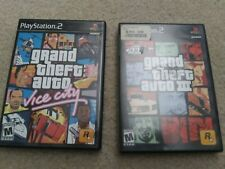 Cib Grand Theft Auto Iii 3 and Gta Vice City (PlayStation 2 Ps2) - 2 Game Bundle