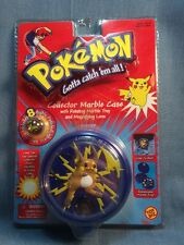 2000 Toybiz Pokemon Marble Case Tray Magnifying Lens 8 Marbles Raichu
