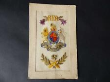 WWI Silk Embroidered Postcard, Royal Field Artillery Coat Of Arms