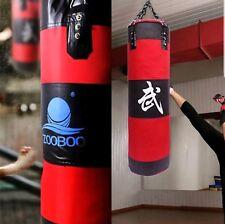 ZooBoo 90cm Punching Bag Boxing Sandbag Punch Thai Mma Training Kick Workout Euc