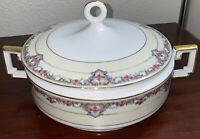 Heinrich & Co Selb Pink Roses Floral Pattern Soup Tureen With Lid