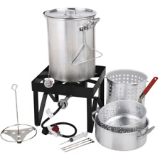 Turkey Fryer Accessories Basket Large Crawfish Boiler Pot Set Propane Steamer