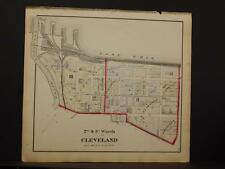 Ohio, Cuyahoga County Map Cleveland North 2nd & 3rdWard 1874  K11#51