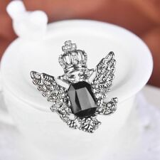Collar Pin Black And Silver Rhinestone Jewelry Accessories Brooch For Men