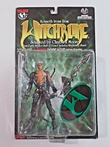 Kenneth Irons From Witchblade Action Figure Samurai Swords NIP Moore Collectible