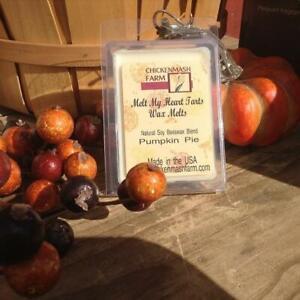 Pumpkin Pie Fragrance Candle Melts   Melt My Heart Tarts 6-Pack Clamshell