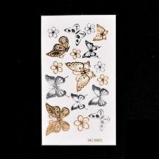 Fake Temporary Tattoo Aufkleber Schmetterling Arm Körper wasserdichte Frauen FL