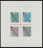 BADEN FRENCH OCCUPATION ZONE Mi. #Block 2 mint MNH stamp sheet! CV $132.50