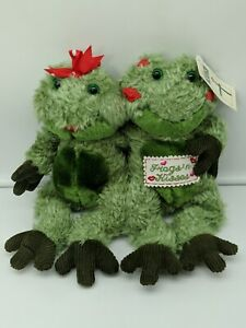 First & Main Frogs N Kisses Vintage Plush Stuffed Animal With Tags Free Shipping