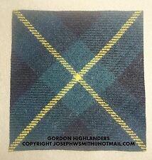 WW2 British Army,Gordon Highlanders tartan patches insignia, for Tam O Shanter