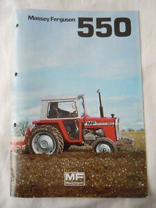 @Massey Ferguson MF 550 Tractor Brochure 10 Page-Original@