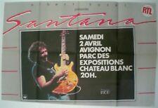 SANTANA – AFFICHE ORIGINALE DE CONCERT -  FRANCE – AVIGNON - 1983