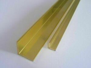 Messing Winkel Winkelprofil  Länge wählbar Messing Anschlag Winkel