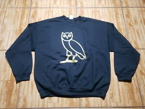 Drake Octobers Very Own OVO Pullover Sweater Adult XL Black Mens Owl