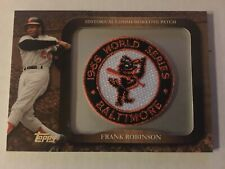2009 Topps Commemorative Patch Orioles Frank Robinson LPR-76 Baseball Card