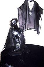Kaftans / Black Chiffon viscose / Stunningly Embellished / Wholesale