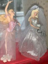 Barbie Bride And Ballerina Ornaments Pretty Tulle Dresses Display For Valentines