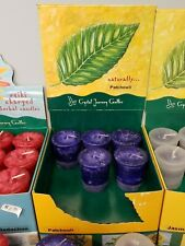 18 ct Box Lot of Crystal Journey Naturally Patchouli Votive Candles