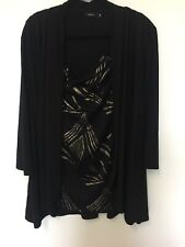 Eve Hunter Black top size 18 Women's Work/Casual/Party