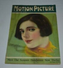 MOTION PICTURE  sept 1925  vintage Movie Magazine  ALMA RUBENS cover
