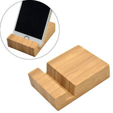 1 Pc Bamboo Desktop Cell Phone Holder Stand Bracket For iPhone Samsung Universal