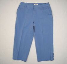"Coldwater Creek Capri Pants Womens Sz 6 Cornflower Blue Stretch 21"" Inseam"