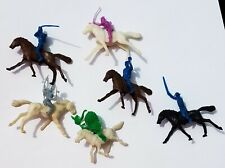 Vintage 1950's Cowboys and Indians Horses Soldiers - Plastic Figures Playset