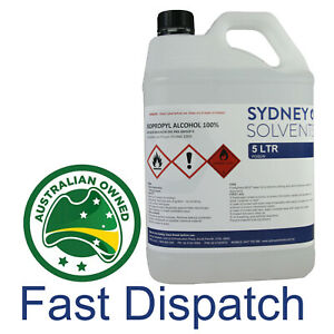 Isopropyl Alcohol 100% IPA 5L Rubbing Alcohol Hand & Surface Sanitiser