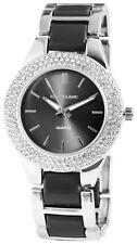 Excellanc Damenuhr Anthrazit Strass Analog Metall Mode Armbanduhr X152621500005
