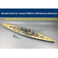 Wooden Deck for Tamiya 78013 1/350 German WWII Battleship Bismarck Model