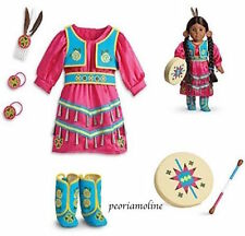 American Girl KAYA JINGLE DRESS OF TODAY Outfitl Drum, Native Indian NEW