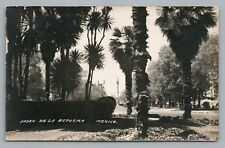Paseo de la Reforma—Mexico City RPPC Antique DF Foto Photo Tarjeta Stamp 1935