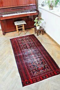 runner-Baluchi rugs - Antique carpet size : 173 x 87 cm - 2.85 x 5.67  foot