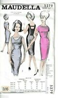 "Maudella Vintage Sewing Pattern 5279 Ladies 2 Way Dress 1960s 32 36 38"" 8 12 14"