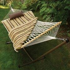 Algoma Cotton Rope Hammock, Stand, Pad & Pillow Combination 8911S Hammock NEW