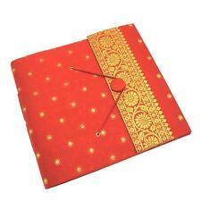 Fair Trade Handmade Large Sari Photo Album Scrapbook Red