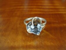 Taxco Blue Stone Flower Design Mexico Sterling Silver 925 Ring Size 5 1/2