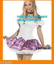 Ladies Oktoberfest or School Girl Costume - Scottish Pink Design Size 12