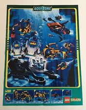 "Lego Vintage Aquazone Aqusharks Aquanauts 16 x 21"" Poster 1995 Advertising Ad"