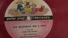 Peter Pan Players - 78rpm Kiddie record 7-inch – Peter Pan #208 Old MacDonald