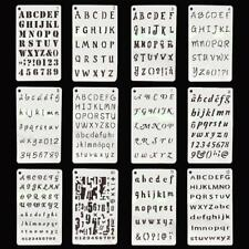 Letter Alphabet Number Layering Stencils Template Embossing Scrapbooking New C