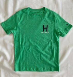 Tommy Hilfiger Boys Youth Graphic T Shirt Irish Green 100% Cotton Size 4 5 6 7