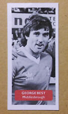 MIDDLESBROUGH - GEORGE BEST - Score UK football trade card - MANCHESTER UNITED