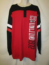 mens ecko unltd embroidered LS henley shirt 2XB nwt red