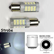 Strobe 1156 2396 P21W 3497 7506 1141 BA15S 92 LED White Brake Light B1 JP US Eur