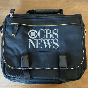 Vintage CBS NEWS Laptop Computer Work Tote Briefcase Bag